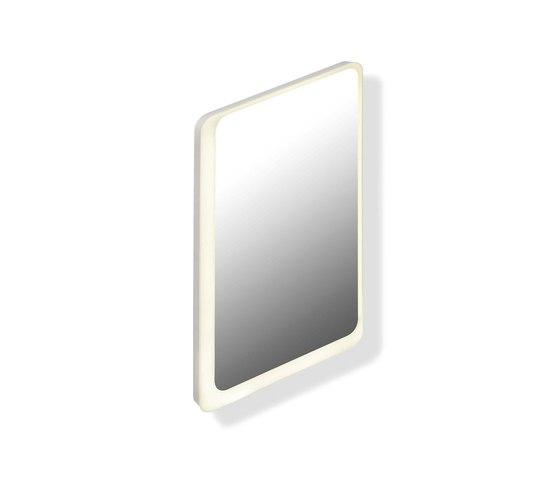 LED illuminated mirror | 950.01.11101 by HEWI | Bath mirrors