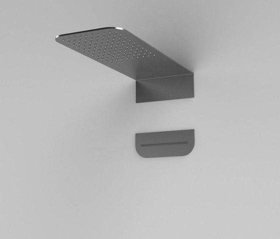 Inspectional round or squared shower head by Rexa Design   Shower controls