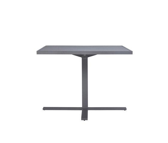 DUO CAFE TABLE SQUARE 95 de JANUS et Cie | Tables de repas