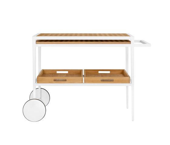 HATCH SERVING CART de JANUS et Cie | Chariots