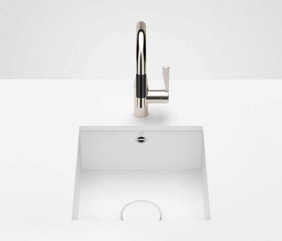 Kitchen sink in glazed steel - Single sink by Dornbracht | Kitchen sinks