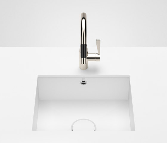 Kitchen sink in glazed steel - Single sink by Dornbracht | Kitchen sinks