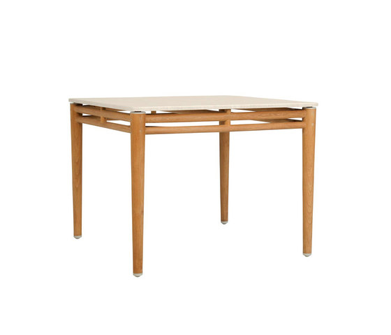 KONOS STONE TOP DINING TABLE SQUARE 100 de JANUS et Cie | Tables de repas