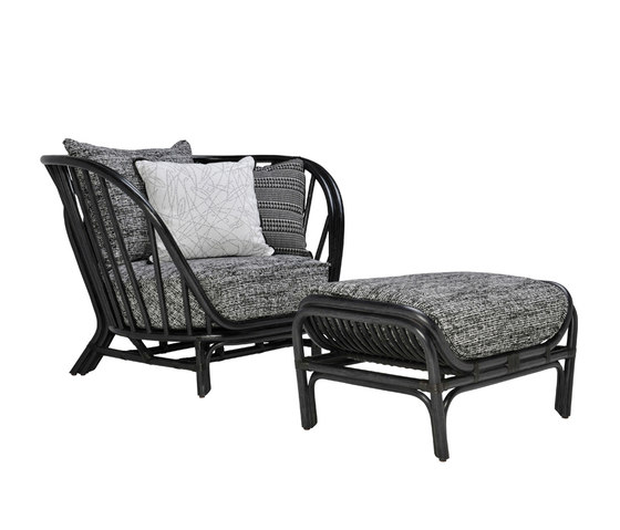 KYOTO RATTAN LOUNGE CHAIR & OTTOMAN by JANUS et Cie | Armchairs