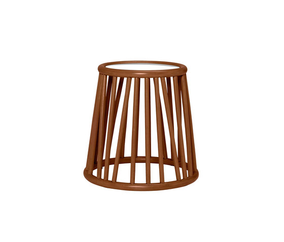 KYOTO RATTAN SIDE TABLE ROUND 46 by JANUS et Cie | Side tables