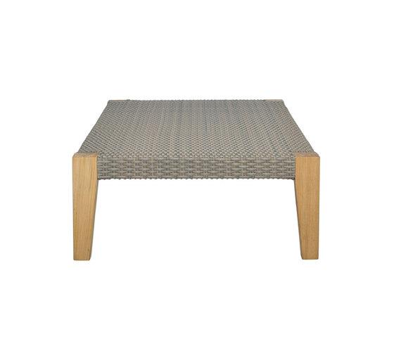 QUINTA GRANDE TEAK / WOVEN OTTOMAN TABLE 110 by JANUS et Cie   Coffee tables