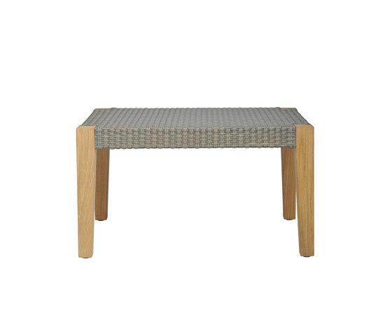 QUINTA TEAK / WOVEN OTTOMAN TABLE 70 de JANUS et Cie | Tables d'appoint
