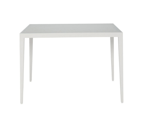 SLANT GLASS TOP CONTINENTAL TABLE RECTANGLE 92 by JANUS et Cie | Dining tables