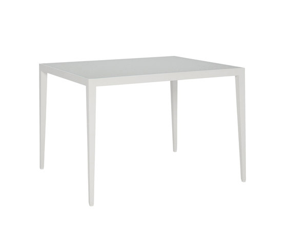 SLANT GLASS TOP CONTINENTAL TABLE RECTANGLE 92 di JANUS et Cie | Tavoli pranzo