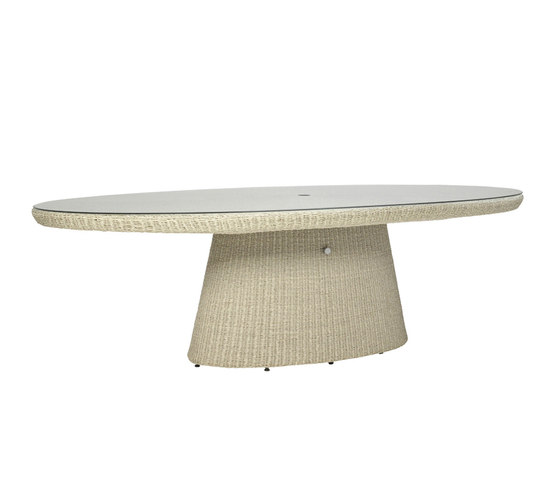 STRADA GLASS TOP DINING TABLE OVAL 260 by JANUS et Cie | Dining tables