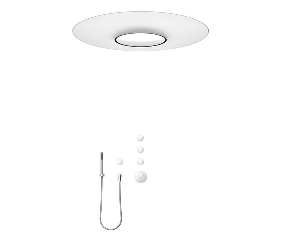 Rounded generic - AQUAMOON Rain panel with xTool with hand shower set by Dornbracht | Shower controls