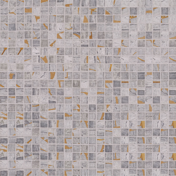 Kintsugi Mini Kyubu by Claybrook Interiors Ltd.   Natural stone tiles