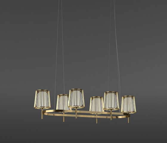 Julia Oval by Quasar | Suspended lights