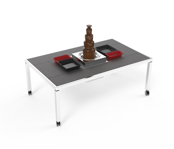 Dining table 'St. Moritz' | Chocolate fountain by La Tavola | Dining tables