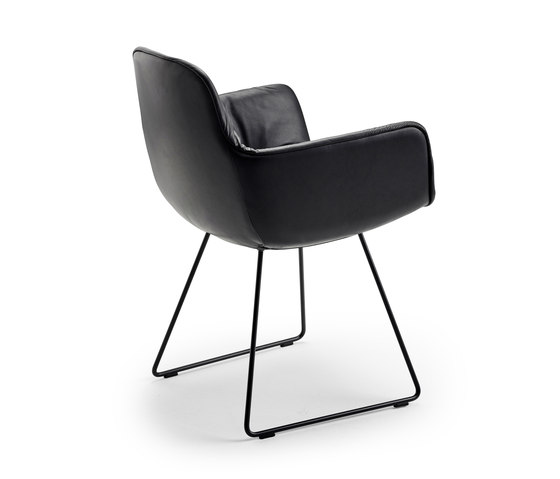 Leya | Armchair High with skid frame by FREIFRAU MANUFAKTUR | Chairs
