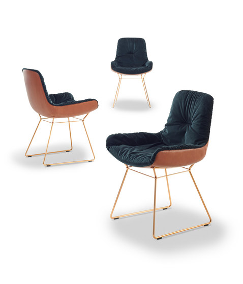 Leya | Armchair Low with wire frame by FREIFRAU MANUFAKTUR | Chairs