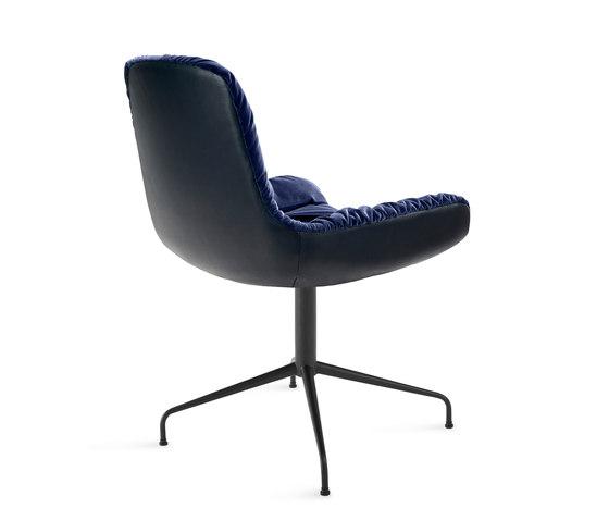 Leya | Armchair Low with trestle leg by FREIFRAU MANUFAKTUR | Chairs