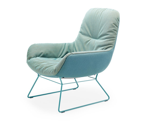 Leya | Lounge Chair with wire frame by FREIFRAU MANUFAKTUR | Armchairs