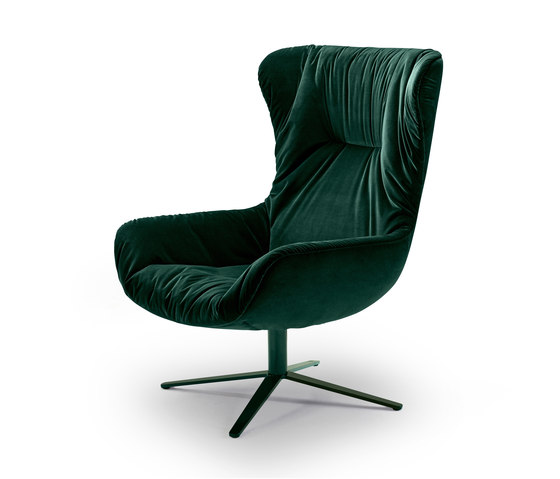 Leya | Wingback Chair with x-base frame de Freifrau Sitzmöbelmanufaktur | Sillones