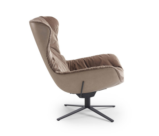 Leya   Wingback Chair with x-base frame with rocker / tilting mechanism de Freifrau Sitzmöbelmanufaktur   Sillones