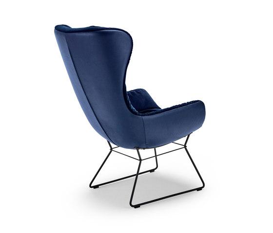 Leya |  Wingback Chair with wire frame by FREIFRAU MANUFAKTUR | Armchairs