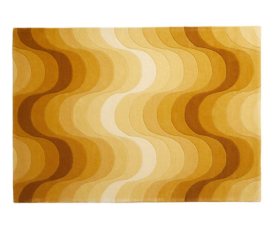 Wave Rug | Yellow by Verpan | Rugs