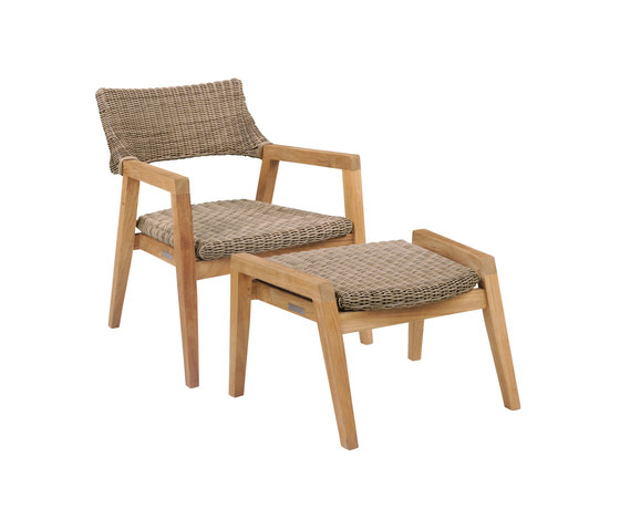 Spencer Club Chair and Ottoman by Kingsley Bate | Armchairs