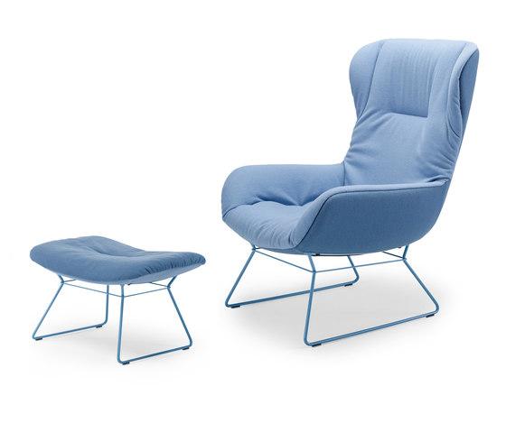 Leya | Wingback Chair with wire frame & Ottoman by FREIFRAU MANUFAKTUR | Armchairs