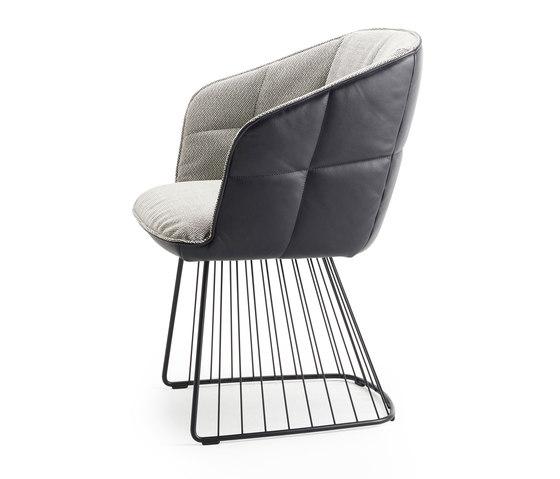 Marla | Armchair High mit Harfengestell von FREIFRAU MANUFAKTUR | Stühle