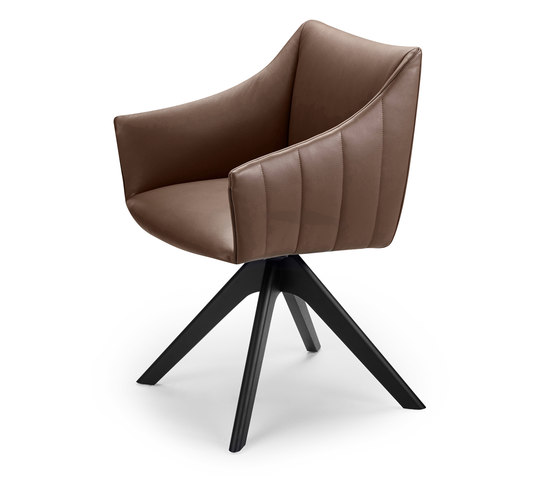 Rubie | Armchair High with wooden support frame by FREIFRAU MANUFAKTUR | Chairs