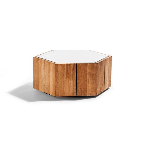Hexagon Side Table di Tribù   Tavolini alti