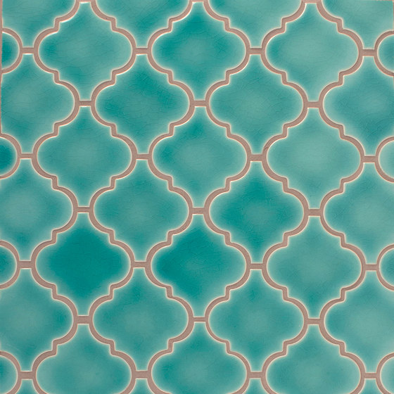 Small Arabesque Netted de Pratt & Larson Ceramics | Mosaïques céramique