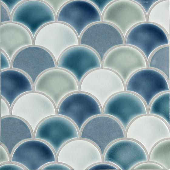 Small Fan Pattern A von Pratt & Larson Ceramics | Keramik Mosaike
