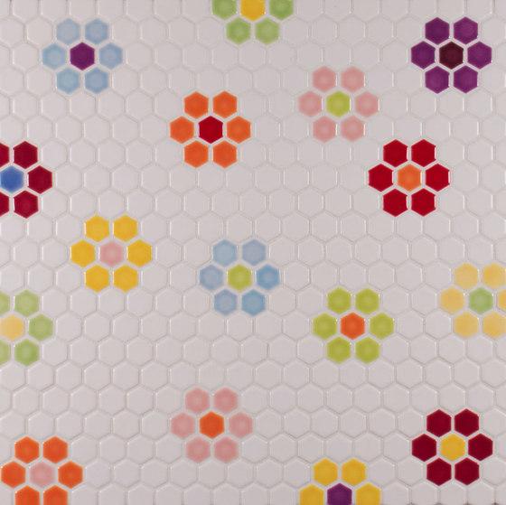 "1"" Hexagon Pattern de Pratt & Larson Ceramics   Mosaïques céramique"