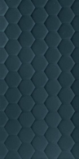 4D | Hexagon Deep Blu Matt di Marca Corona | Piastrelle ceramica