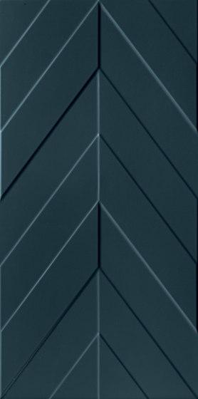 4D | Chevron Deep Blu Matt de Marca Corona | Carrelage céramique
