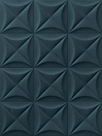 4D | Flower Deep Blue 20 by Marca Corona | Ceramic tiles