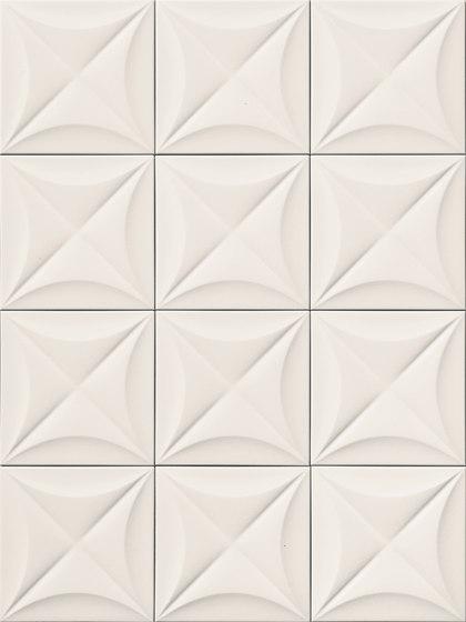 4D | Flower White 20 by Marca Corona | Ceramic tiles