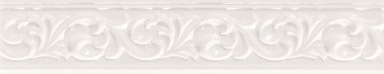 Deluxe | White Fregio de Marca Corona | Baldosas de cerámica