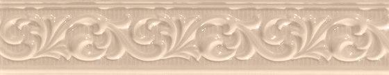 Deluxe | Beige Fregio de Marca Corona | Baldosas de cerámica