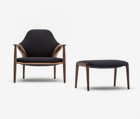 Arm chair + Ottoman by Kunst by Karimoku | Armchairs