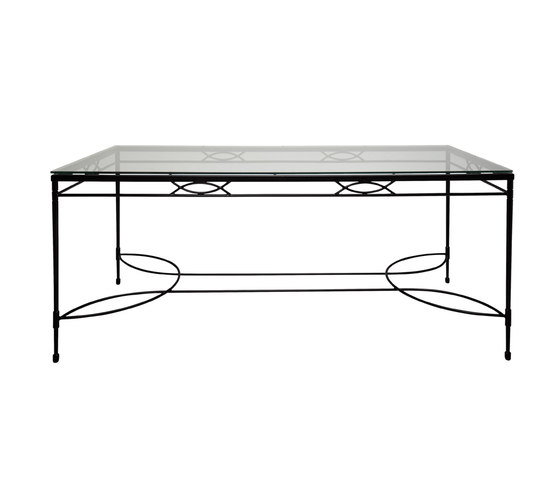 AMALFI GLASS TOP DINING TABLE RECTANGLE 203 by JANUS et Cie | Dining tables