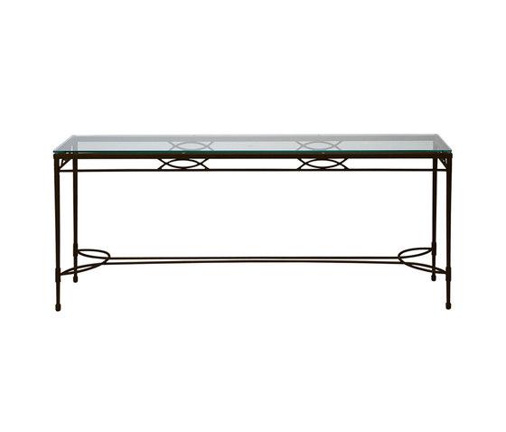 AMALFI GLASS TOP SERVING TABLE 183 by JANUS et Cie   Console tables