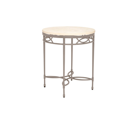 AMALFI STONE TOP SIDE TABLE ROUND 51 by JANUS et Cie | Side tables