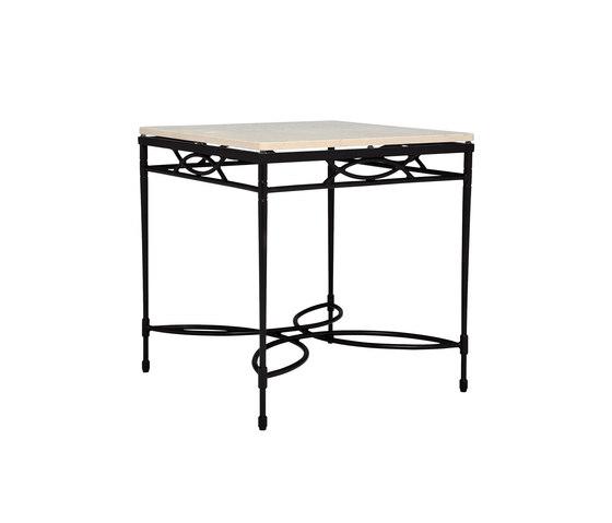 AMALFI STONE TOP SIDE TABLE SQUARE 56 di JANUS et Cie | Tavolini alti