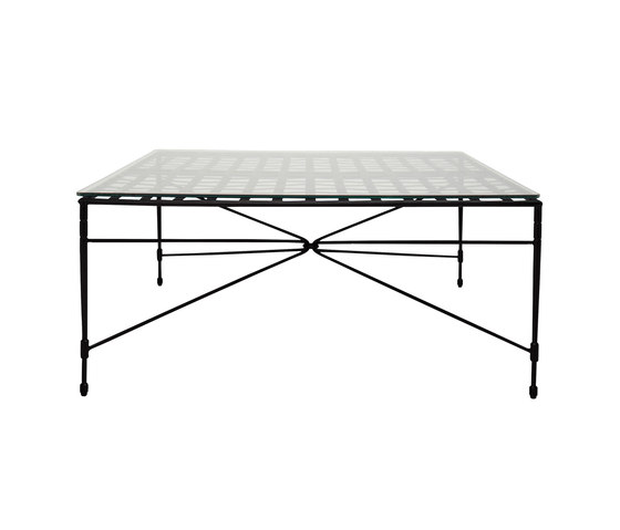 AMALFI WOVEN GLASS TOP COCKTAIL TABLE SQUARE 107 by JANUS et Cie   Coffee tables