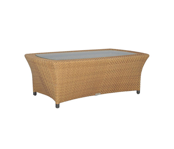 AMARI GLASS TOP COCKTAIL TABLE RECTANGLE 120 di JANUS et Cie | Tavolini bassi