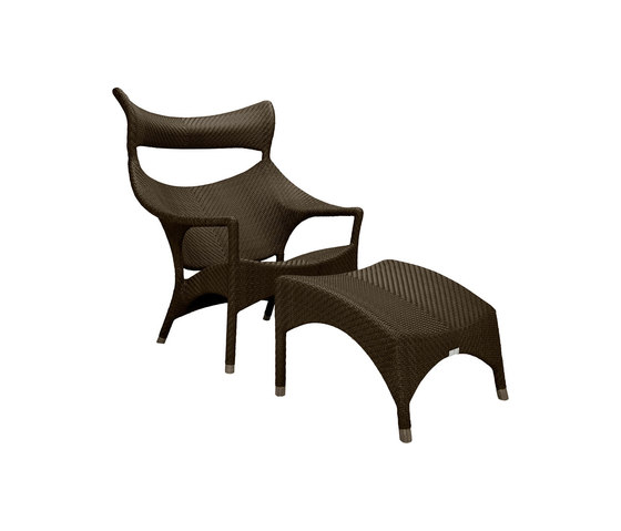 AMARI HIGH BACK LOUNGE CHAIR + OTTOMAN by JANUS et Cie | Armchairs