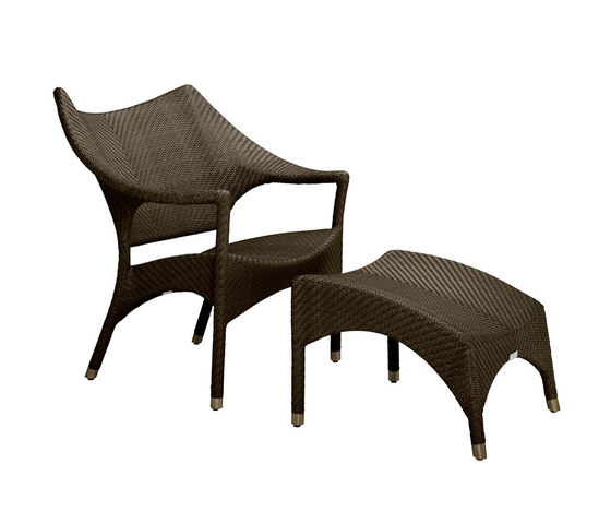 Amari Low Back Lounge Chair Ottoman Armchairs From