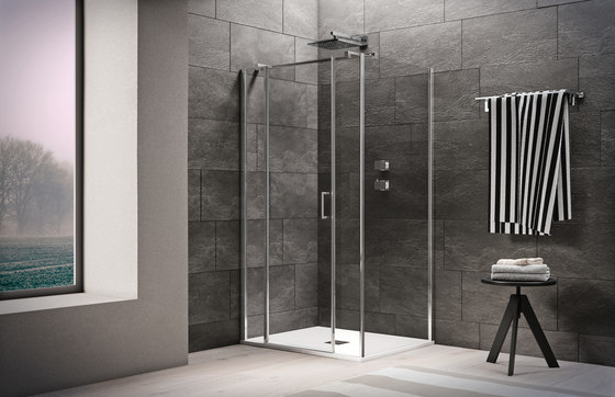 Claire Design Pivot door by Inda | Shower screens